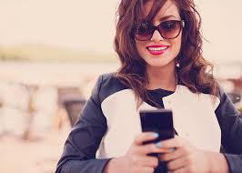 women with mobiles